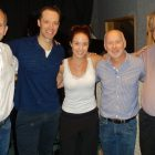 ...In the recording studio with Jim Hindman (Book), Sierra Boggess, Ray Roderick (Lyrics) and Joe Baker (Music). Sept., 2013.